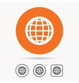 Globe icon World or internet sign vector image vector image
