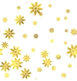 Gold glittering foil seamless pattern vector image