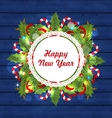 Greeting Card with Decoration for Happy New Year vector image vector image
