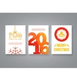Happy new year 2016 and Merry Christmas red vector image vector image