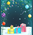 holiday background for christmas or new year vector image vector image