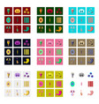icons set in flat style human biology vector image vector image