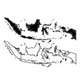 indonesia map vector image vector image