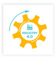 industry 40 revolution gear and factory icon vector image vector image