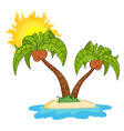 Island with two palm tree vector | Price: 3 Credits (USD $3)