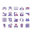 leisure activities colorful linear icons set vector image vector image