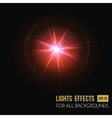 Light effect or lens flare sparkle bokeh vector image vector image
