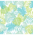 light tropical leaves summer hawaiian vector image vector image