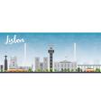 lisbon city skyline vector image vector image