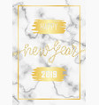 luxury golden glitter happy new year 2019 vector image vector image