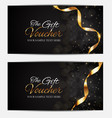 luxury members gift card template for your vector image vector image