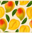 mango seamless pattern vector image vector image