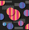 memphis style pattern circles and zig zag black vector image