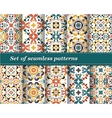 Mexican stylized talavera tiles seamless pattern vector image vector image