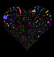 narcotic drugs fireworks heart vector image vector image