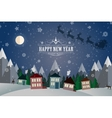 New Year Winter holidays landscape- night street vector image vector image