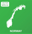 norway map icon business concept norway pictogram vector image