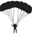 parachutist silhouette vector image vector image