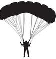 parachutist silhouette vector image
