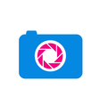 Photography logo in blue and pink vector image vector image