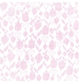 Pink textile tulips texture seamless pattern vector image vector image