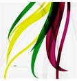 Rainbow color wave stripes vector image vector image