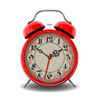 red alarm clock vector image