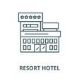 resort hotel line icon linear concept vector image