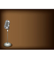 Retro Microphone Brown Background vector image