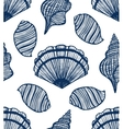 seamless background with seashells vector image vector image