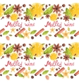 Seamless watercolor pattern with spices on the vector image vector image
