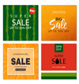 set of sale banner templates vector image vector image