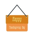 Signboard thanksgiving icon vector image vector image