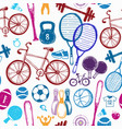 sport sketch pattern hand drawn vector image vector image