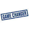 square grunge blue game changer stamp vector image vector image