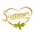 Summer heart logo vector image vector image