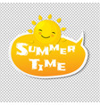 summer time speech bubble vector image vector image