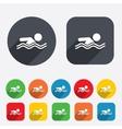 Swimming sign icon Pool swim symbol vector image vector image