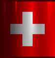 switzerland flag metallic texture background vector image