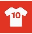 The sports t-shirt with the number 10 icon Shirt vector image