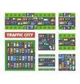 Traffic Transportation set vector image vector image