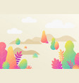 trendy fantasy background with plants modern vector image vector image