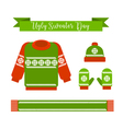 Ugly sweater day vector image vector image