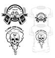 Vape T-Shirt Designs Set vector image vector image