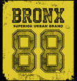 vintage bronx typography t-shirt graphics vector image vector image