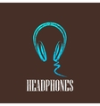 vintage with a headphones vector image