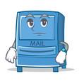 waiting mailbox character cartoon style vector image vector image