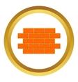 wall bricks icon vector image vector image