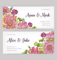 wedding invitation and save the date card vector image vector image