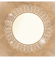 White lace doily on paper an background vector image vector image